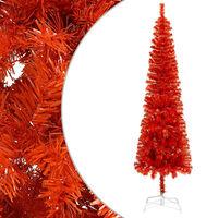 vidaXL Úzky vianočný stromček červený 150 cm