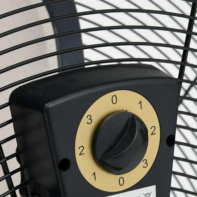 vidaXL Priemyselný bubnový ventilátor 77 cm 180 W čierny