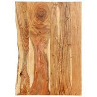 vidaXL Doska na kúpeľňovú skrinku masívne akáciové drevo 80x55x2,5 cm