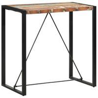 vidaXL Barový stolík 110x60x110 cm masívne recyklované drevo
