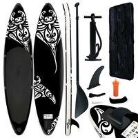 vidaXL Nafukovací Stand Up Paddleboard 320x76x15 cm čierny