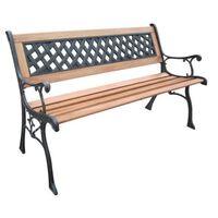 vidaXL HI Záhradná lavička 126 cm drevo