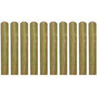 vidaXL Impregnované plotové dosky 20 ks, drevo 60 cm