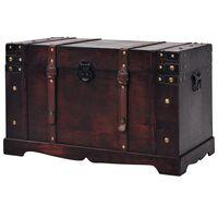 vidaXL Vintage truhlica na klenoty, drevená, 66x38x40 cm
