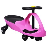 vidaXL Samochodiace autíčko pre deti s klaksónom ružové
