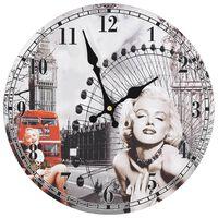 vidaXL Vintage nástenné hodiny Marilyn Monroe 30 cm