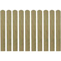 vidaXL Impregnované plotové dosky 20 ks, drevo 80 cm
