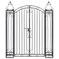 vidaXL Ozdobná záhradná brána, kované železo 122x20,5x160 cm