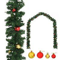 vidaXL Vianočná girlanda s ozdobami 10 m
