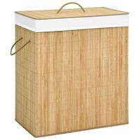 vidaXL Bambusový kôš na bielizeň 100 l
