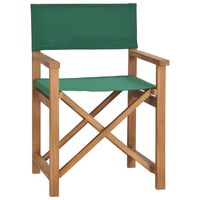 vidaXL Režisérska stolička, tíkový masív, zelená