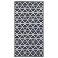 vidaXL Vonkajší koberec čierny 160x230 cm PP