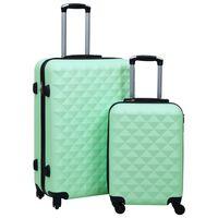 vidaXL Súprava cestovných kufrov s tvrdým krytom 2 ks mätová ABS