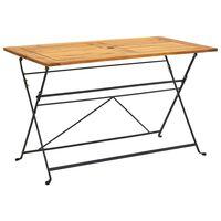 vidaXL Skladací záhradný stôl 120x70x74 cm, akáciový masív