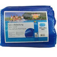 Summer Fun Letná solárna plachta na bazén, oválna 800x420cm, PE, modrá