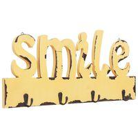vidaXL Nástenný vešiak SMILE 50x23 cm
