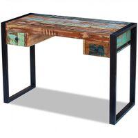 vidaXL Písací stôl, recyklovaný masív