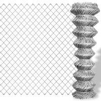 vidaXL Drôtené pletivo, pozinkovaná oceľ 15x1 m, strieborné