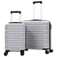 vidaXL Súprava cestovných kufrov s tvrdým krytom 2 ks strieborná ABS