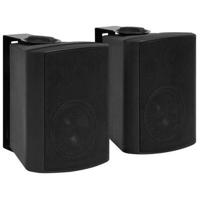 vidaXL Nástenné stereo reproduktory do interiéru a exteriéru 2 ks čierne 80 W