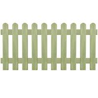 vidaXL Latkový plot, impregnovaná borovica 170x80 cm, 6/9 cm