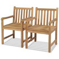 vidaXL Vonkajšie stoličky 2 ks, tíkový masív