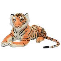 vidaXL Hračka plyšový tiger, hnedý, XXL