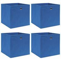 vidaXL Úložné boxy 4 ks modré 32x32x32 cm látkové