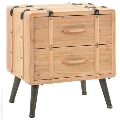 vidaXL Nočný stolík jedľový masív 50x35x57 cm