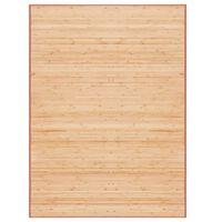 vidaXL Bambusový koberec 160x230 cm, hnedý