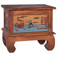 vidaXL Nočný stolík 45x35x40 cm recyklované teakové drevo