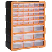 vidaXL Organizér s 39 zásuvkami 38x16x47 cm