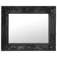 vidaXL Nástenné zrkadlo v barokovom štýle 50x40 cm čierne