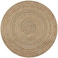 vidaXL Pletený okrúhly koberček z juty, 150 cm