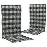 vidaXL Podložky na záhradné stoličky, potlač 2 ks, farebné 120x50x3 cm