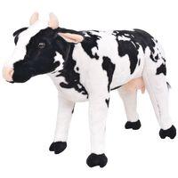 vidaXL Stojaca plyšová hračka, krava, čierno-biela, XXL