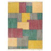 vidaXL Ručne tkaný koberec Kilim, bavlna 160x230 cm, potlač, farebný