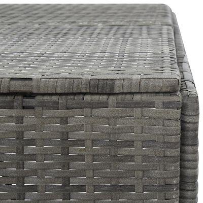 vidaXL Ohrada na odpadkový kôš, antracitová 76x78x120 cm, polyratan