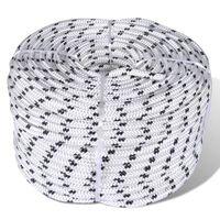 vidaXL Spletané lodné lano, polyester 8 mm x 50 m