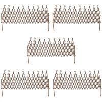 vidaXL Mriežkový plot z vŕbového prútia 5 ks