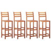 vidaXL Barové stoličky 4 ks, akáciový masív