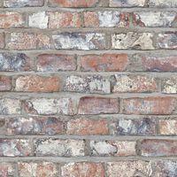 DUTCH WALLCOVERINGS Tapeta tehlový dizajn viacfarebná EW3103