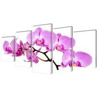 Sada obrazov na stenu, motív Orchidea 100 x 50 cm