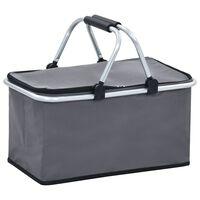 vidaXL Chladiaca studená taška šedá 46x27x23 cm hliník