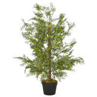 vidaXL Umelá rastlina strom cyprus s kvetináčom zelená 90 cm