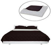 Obojstranná posteľná prikrývka, béžová/hnedá, 230 x 260 cm