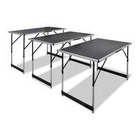vidaXL Tapetovací stôl 3 ks, skladací, nastaviteľná výška