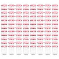 vidaXL Zaváracie poháre s bielo-červenými viečkami 96 ks 400 ml sklo