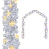 vidaXL Vianočná girlanda s LED svetielkami 20 m, biela