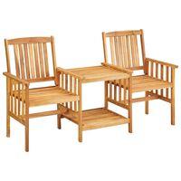 vidaXL Záhradné stoličky s čajovým stolíkom 159x61x92 cm akáciový masív